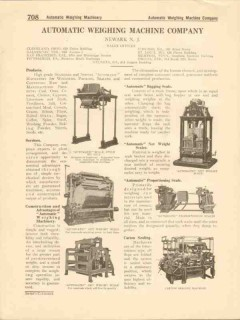 Automatic Weighing Machine Company 1916 Vintage Catalog Seal Packing