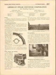 American Steam Conveyor Corp 1916 Vintage Catalog Jet Ash Handling