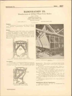 Badenhausen Company 1916 Vintage Catalog Boiler All-Steel Water Tube