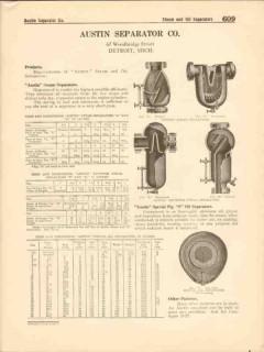 Austin Separator Company 1916 Vintage Catalog Manufacturer Steam Oil