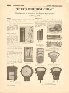 Precision Instrument Company 1916 Vintage Catalog Measuring Regulating