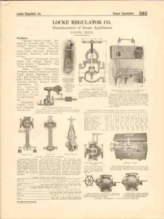 Locke Regulator Company 1916 Vintage Catalog Steam Appliances Damper