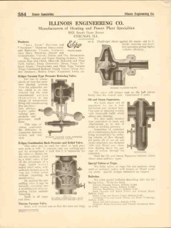 Illinois Engineering Company 1916 Vintage Catalog Valves Pressure