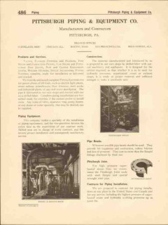 Pittsburgh Piping Equipment Company 1916 Vintage Catalog Bends Valves