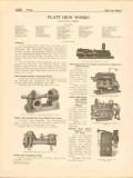 Platt Iron Works 1916 Vintage Catalog Pumps Smith-Vaile Steam Power