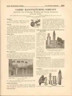 Carbic Mfg Company 1916 Vintage Catalog Welding Cutting Low Pressure