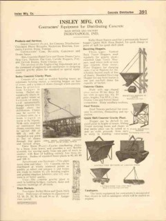 Insley Mfg Company 1916 Vintage Catalog Concrete Equipment Hoist Chute