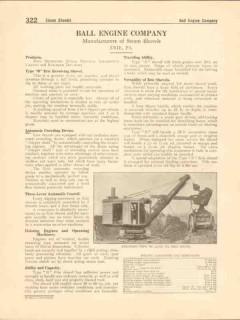 Ball Engine Company 1916 Vintage Catalog Steam Shovels Cranes Ditchers