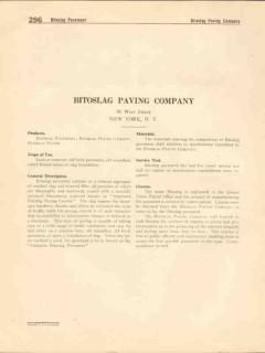 Bitoslag Paving Company 1916 Vintage Catalog Cement Pavement Filler
