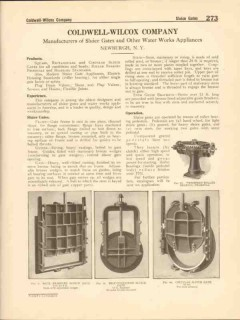 Coldwell-Wilcox Company 1916 Vintage Catalog Water Sluice Gates