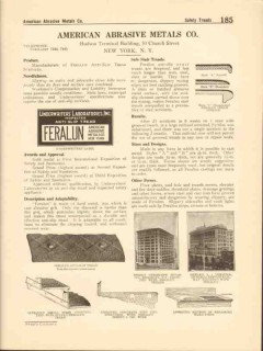 American Abrasive Metals Company 1916 Vintage Catalog Safe Stair Tread
