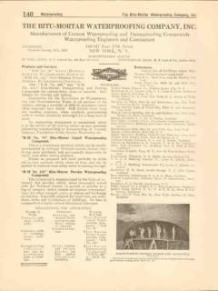 Bitu-Mortar Waterproofing Company 1916 Vintage Catalog Compound Powder