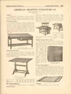 American Drafting Furniture Company 1916 Vintage Catalog Drawing Table