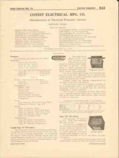 Condit Electrical Mfg Company 1916 Vintage Catalog Protective Devices