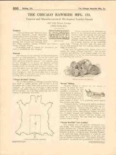 Chicago Rawhide Mfg Company 1916 Vintage Catalog Mechanical Leather