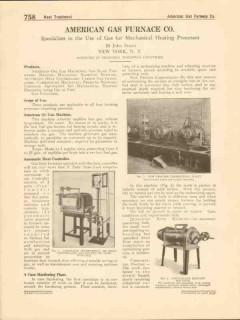 American Gas Furnace Company 1916 Vintage Catalog Heat Controller