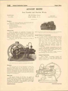 August Mietz 1916 Vintage Catalog Foundry Engines Pumps Compressors