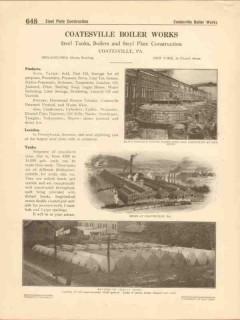 Coatesville Boiler Works 1916 Vintage Catalog Steel Tanks Plates