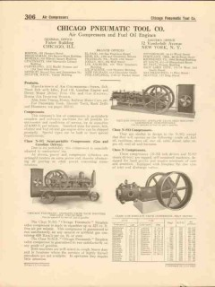 Chicago Pneumatic Tool Company 1916 Vintage Catalog Air Compressors