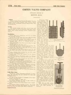 Coffin Valve Company 1916 Vintage Catalog Sluice Gates Butterfly Check