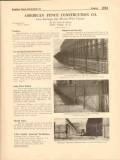 American Fence Construction Company 1916 Vintage Catalog Picket Rail