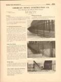 American Fence Construction Company 1916 Vintage Catalog Picket Rail