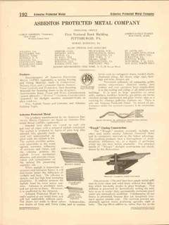 Asbestos Protected Metal Company 1916 Vintage Catalog Roofing Siding