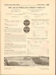 Atlas Portland Cement Company 1916 Vintage Catalog Bridge Canal