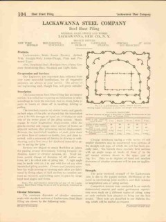 Lackawanna Steel Company 1916 Vintage Catalog Arched-Web Sheet Piling