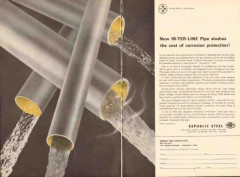 Republic Steel Corp 1962 Vintage Ad Oil Pipe Corrosion In-Ter-Line