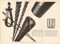 Colorado Fuel Iron Corp 1962 Vintage Ad Oil Petroleum Shape Steel Pipe