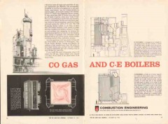 Combustion Engineering 1962 Vintage Ad Oil CO Gas C-E Boilers