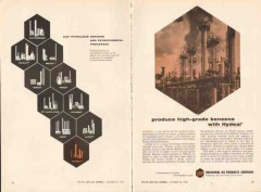 Universal Oil Products Company 1962 Vintage Ad Benzene Hydeal