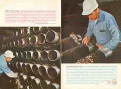 Armco Steel Corp 1962 Vintage Ad Spang Buttress Thread Casing Pipeline