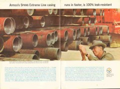 Armco Steel Corp 1962 Vintage Ad Oilfield Sprang Extreme Line Casing