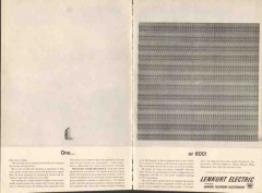 lenkurt electric company 1962 one radio carrier equipment vintage ad