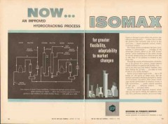 Universal Oil Products Company 1962 Vintage Ad Hydrocracking Isomax