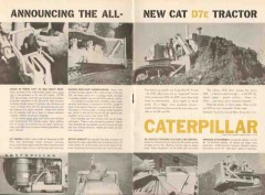 caterpillar tractor company 1962 new cat d7e tractor vintage ad