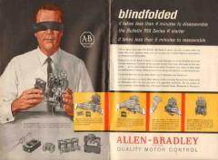 allen-bradley company 1962 blindfolded 709 series k starter vintage ad
