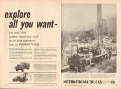 international harvester company 1962 explore oilfield truck vintage ad