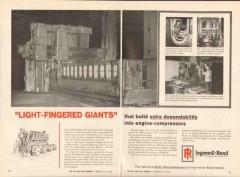 Ingersoll-Rand 1962 Vintage Ad Engine Compressor Light-Fingered Giants