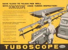 Tuboscope Company 1962 Vintage Ad Oil Sonoscope Used Tubing Inspection