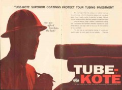 Tube-Kote Inc 1962 Vintage Ad Oil Tubing Superior Coatings Protect