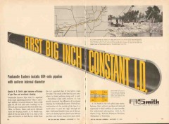 A O Smith Corp 1962 Vintage Ad Oil Panhandle Eastern 604-Mile Pipeline