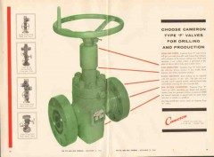 Cameron Iron Works 1962 Vintage Ad Oil Field Type F Valve Drilling