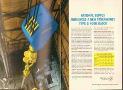 Armco Steel Corp 1962 Vintage Ad Oil National Supply Type G Hook Block