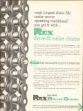Chain Belt Company 1962 Vintage Ad Oil Rex Long Life Severe Conditions
