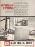 Black Sivalls Bryson Inc 1962 Vintage Ad Oil Weatherproof Dehydration