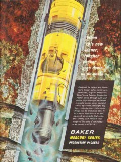 Baker Oil Tools Inc 1962 Vintage Ad Packer Mercury Series Lean Tough