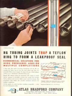 Atlas Bradford Company 1962 Vintage Ad HG Tubing Joints Teflon Ring